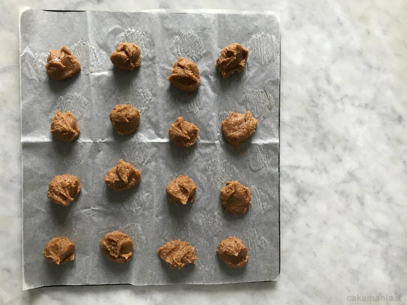 impasto biscotti burro di arachidi