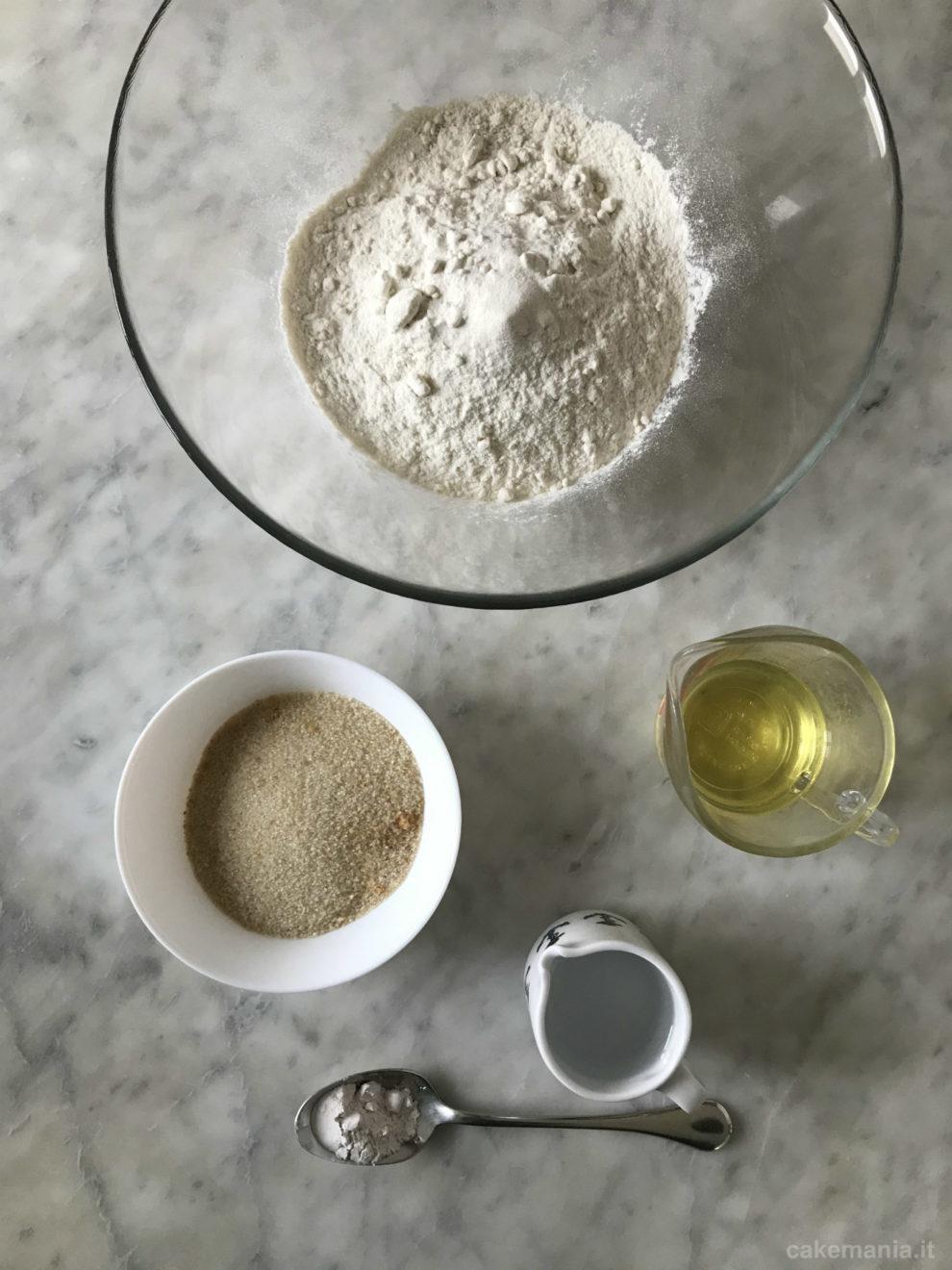 ingredienti pasta frolla vegana