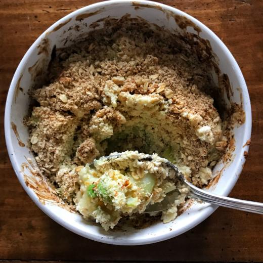 crumble di verdure al forno