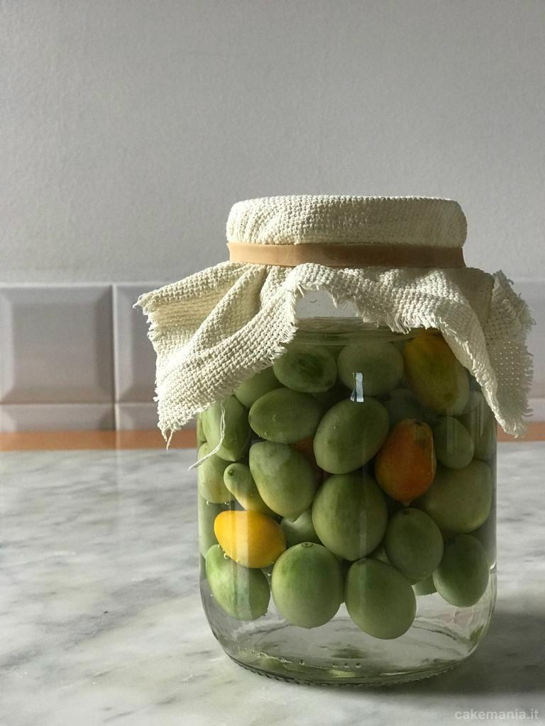 pomodorini verdi fermentati in barattolo