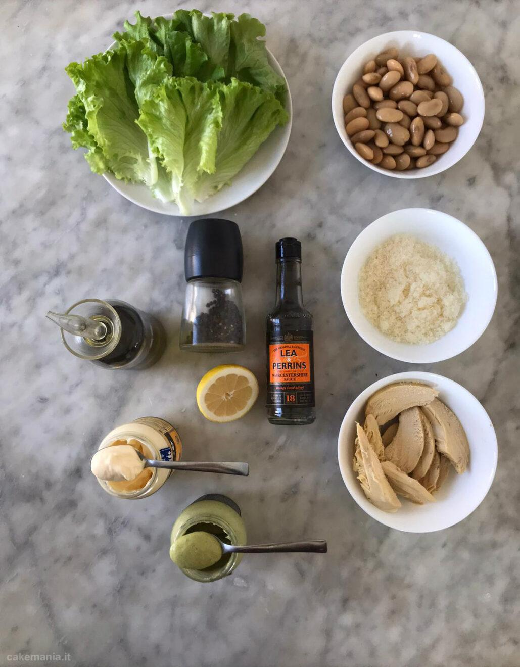 ingredienti caesar salad