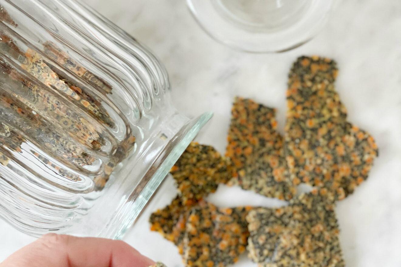cracker indiani curry e spezie vegan e senza glutine