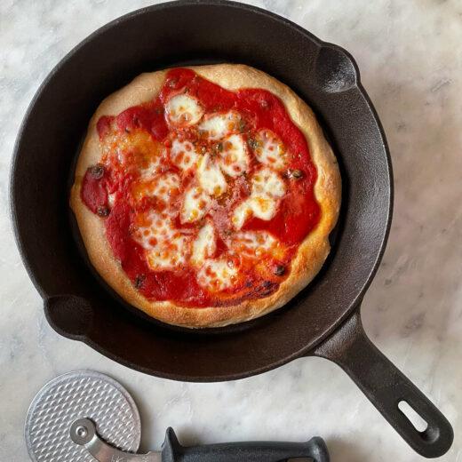 ricetta pizza in padellino