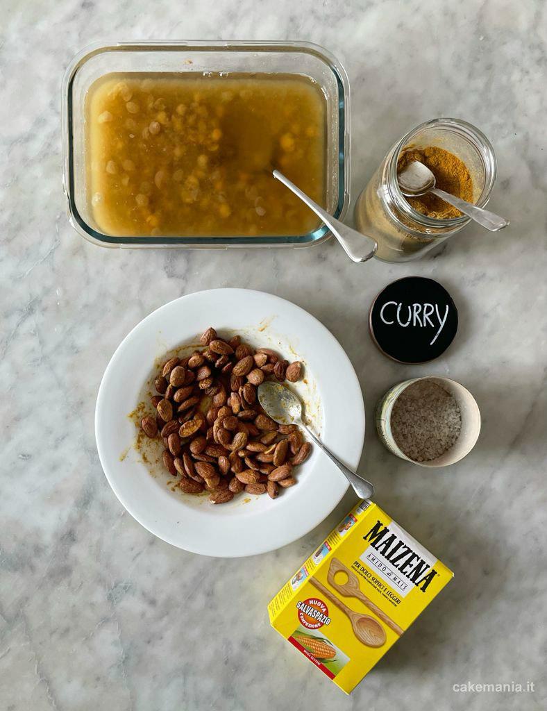 ingredienti mandorle speziate al forno